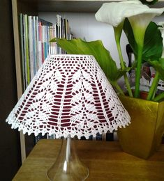Crocheted LampShade cover  A willow by LaisviakCrochet on Etsy