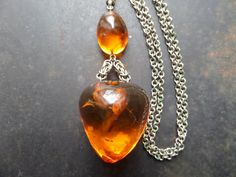 Baltic Amber NecklaceSolid Amber PendantHuge by CodettiSupply
