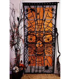 Maker's Halloween Window or Door Panel-Spiders & Skull