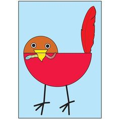 Spring Art Projects, Spring Crafts, Bird Crafts Preschool, Preschool Ideas, Bird Clipart, Spring School, Feather Crafts, Bird Theme, Spring Theme