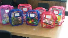 Toy Tamer Bags at the Lekotek Center in Redford, MI No more Ziplocs for these toys! #toylendinglibrary www.kctamers.com