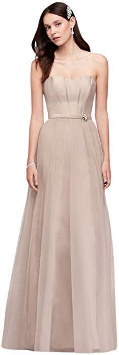 226cd6a7c3289 Mikado and Tulle Long Bridesmaid Dress Style OC290026