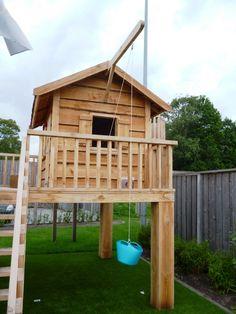 Wood Playground, Backyard Playground, Fire Pit Backyard, Backyard For Kids, Backyard Projects, Outdoor Projects, Simple Playhouse, Diy Playhouse, Backyard Playhouse