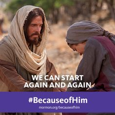 We can start again and again #BecauseofHim.