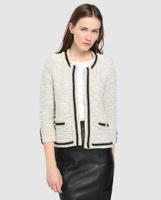 Chaqueta de tweed de mujer Tintoretto con botones perla b0adeafbeabbd