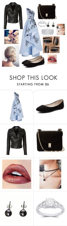 Date Night by chillaxed-wolf-lover on Polyvore featuring Monique Lhuillier, IRO, Verali, Valentino, Black and Graff