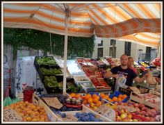 Can't wait to visit the open air market in Vicenza, Italy.  Reminds me of the open air markets in Germany.