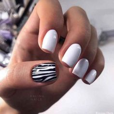 Beautiful Short Nail Art Design Ideas To Try In Summer 2019 These trendy Beautiful Short Nail Art Design Ideas To Try In Summer 2019 These trendy Nail. The Best Nail Art Designs Compilation. 135 fabulous black nail designs for ladies - page 33 New Nail Designs, Gel Nail Polish Designs, Short Nails Art, Manicure For Short Nails, Nagel Gel, Perfect Nails, White Nails, White Manicure, Black Nail
