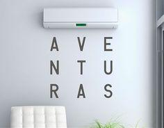 . Textos en vinilo adhesivo para decoración de interiores Aventuras 04486
