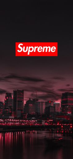 Supreme iPhone Wallpaper Free Download HD, night view, city, tall building, reflection, 1125 x 2436 - Free Wallpaper | Download Free Wallpapers