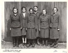 Former concentration camp guards.    Third from the left is Juana Bormann, a guard at multiple camps. She was executed in 1945.