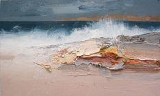 Landscape Artwork, Abstract Landscape, Abstract Art, Am Meer, Art For Art Sake, Seascape Paintings, Painting Inspiration, Art Drawings, Illustration Art