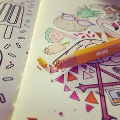 Abrir una caja de lápices nueva y que las minas de los mejores colores estén rotas  #lapices #coloringbook #coloring #bookbinding #encuadernacion