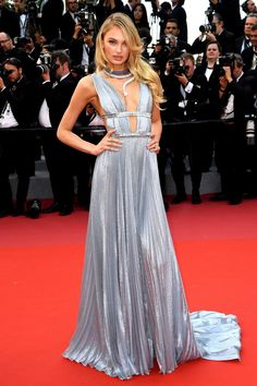 Romee Strijd in Alberta Ferretti at the Opening Ceremony and screening of Everybody Knows (Todos lo Saben) at the 71st Cannes Film Festival #Cannes #2018
