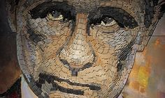Eyewitness   World news   The Guardian A portrait of the Russian president, Vladimir Putin, entitled The Face of War, made by the Ukrainian artist Dasha Marchenko out of 5,000 cartridge cases from weapons used in the conflict with pro-Russia separatists in eastern Ukraine