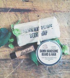Hoppy Trio - Soap Bar, Wax & Lip Balm by Damn Handsome on Scoutmob Shoppe