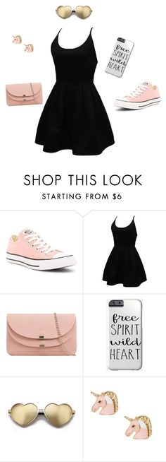 pinky by zinnt on Polyvore featuring WithChic, Converse and Wildfox