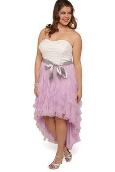 Prom dress long plus size skirt