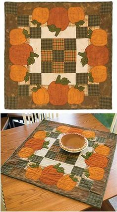 Inspiration Old Keepsake Quilting kit Table Runner And Placemats, Table Runner Pattern, Quilted Table Runners, Fall Sewing, Place Mats Quilted, Keepsake Quilting, Quilted Table Toppers, Halloween Quilts, Fall Quilts