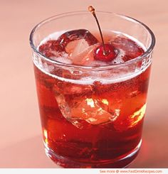 bourbon cherry seltzers | 1 cup(s) bourbon, such as Maker's Mark, or dark rum  3/4 cup(s) packed dark brown sugar  2 cup(s) whole fresh cherries, stems left on  16 ounce(s) (2 cups) seltzer water