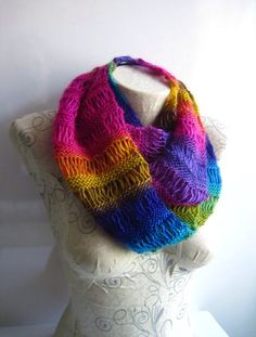 Hey, I found this really awesome Etsy listing at https://www.etsy.com/listing/220409356/rainbow-knitted-scarf-in