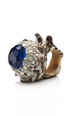 Blue Topaz Conch Ring