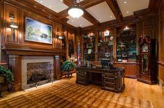 Home office gothic woodwork