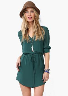 Kane Drawstring Dress » Could be super cute with the right tights or leggings!