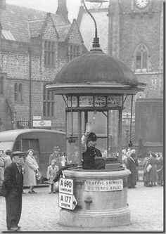 The Police Traffic Control Box in the Market Place in Durham City Notice… Durham Castle, Durham City, Local History, British History, Durham Police, St Johns College, North East England, London Pictures, Vintage London