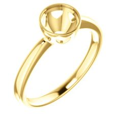 10kt Yellow 6.5mm Round Engagement Ring Mounting Bezel Ring, Gold Rings, Engagement Rings, Jewels, Bracelets, Yellow, Rose, Enagement Rings, Charm Bracelets