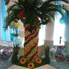 Fruit palm tree.