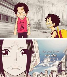 Luffy and Ace from One Piece ;_;