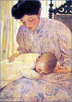 Mother and Baby--Jessie Wilcox Smith Mothers Love, Happy Mothers Day, Jessie Willcox Smith, Image Fruit, Images Vintage, Vintage Pictures, Vintage Art, Image Nature, Baby Art