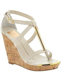 e7b24c2070a Cole Haan Wedge Sandal in Gold (ivory sandstone p)