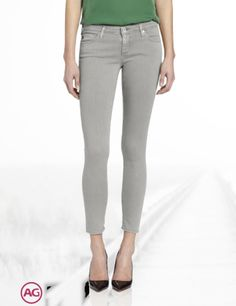 AG Adriano Goldschmied Women's Legging Ankle Super Skinny Jean in Sulfur Grey