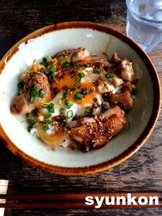 【簡単!!!カフェ丼】間違いない味。こんがり鶏玉丼 | 山本ゆりオフィシャルブログ「含み笑いのカフェごはん『syunkon』」Powered by Ameba