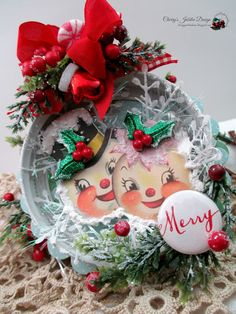 Cherry's Jubilee: Merry Christmas ornament