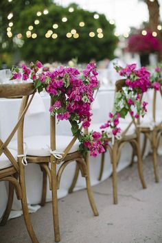 flower strewn chairs | joielala photo