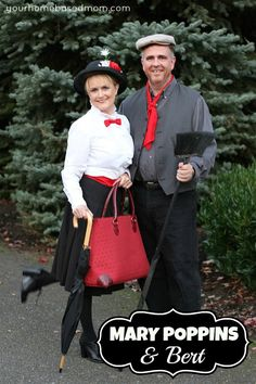 Mary Poppins & Bert @yourhomebasedmom.com