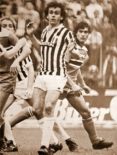 Platini in classic Juventus kit.