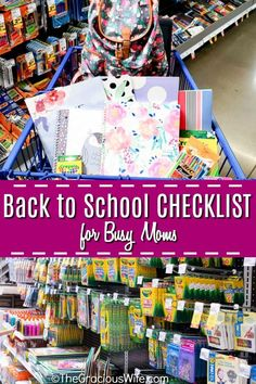 Getting ready for a new school year can be overwhelming. Use this ultimate back to school checklist for busy moms to start the year right. Back To School Checklist, Back To School Hacks, Back To School Supplies, Back To School Shopping, School Tips, School Ideas, New School Year, First Day Of School, When School Starts
