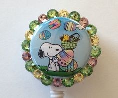 Snoopy and Woodstock Decorative Badge Holder with Charms by Lindasbadgeboutique on Etsy