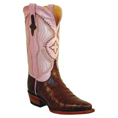 Ferrini Women's Caiman Crocodile Belly Snip Toe Western Boots..these look more orange on the Boot Barn website