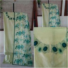 Kurti Patterns, Floral Patterns, Hand Embroidery Videos, Embroidery Dress, Kurtha Designs, Smart Dress, Kamiz, Kurti Neck Designs, Indian Suits