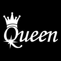 Queen Sticker Decal Vinyl Car Window Bumper X Jdm Queen Wallpaper Crown, Queens Wallpaper, Couple Wallpaper, Wallpaper Quotes, King Y Queen, King Queen Tattoo, Queen Drawing, Crown Drawing, Word Drawings