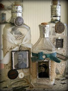 Items similar to Altered Apothecary Bottle Antique Tintype Antique Bottle Vintage Apothecary Altered Bottle on Etsy Apothecary Bottles, Antique Bottles, Vintage Bottles, Liquor Bottles, Bottles And Jars, Glass Jars, Perfume Bottles, Vintage Perfume, Vodka Bottle