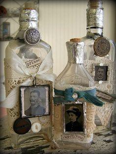 Altéré apothicaire bouteille Vintage Art bouteille par QueenBe
