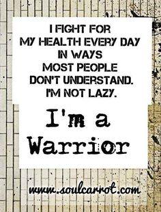 The PCOS mantra. I am a warrior.