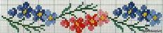 Embroidery cross stitch flowers v
