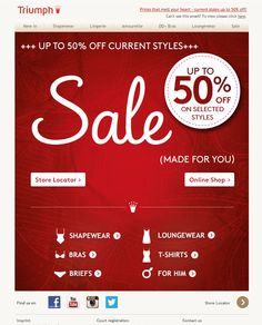 #newsletter Triumph 01.2014 ❄ SALE up to 50% ❄